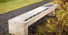 Concrete Bench, Water Feature Outdoor Furniture Turning Stone Design Atlanta, GA
