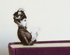Victorian Lady Bookmark Book Illustrations, I Love Books, Bibliophile, Bookmarks, Storytelling, Bookends, Lion Sculpture, Victorian, Statue