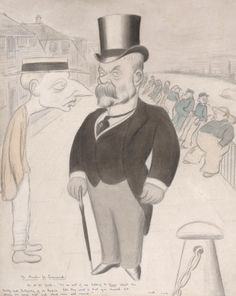THE MEMBER FOR GRAVESEND MR W W JACOBS (TO SIR GILBERT PARKER): 'IT'S NO SORT OF USE TALKING TO THEM ABOUT THE UNITY AND INTEGRITY OF THE EMPIRE. ALL THEY WANT IS THAT YOU SHOULD SIT DOWN ON YOUR HAT AND STAND RUM ALL ROUND.' by SIR MAX BEERBOHM