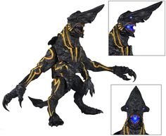 Large and bulky, Knifehead is a heavily built Kaiju.  Its most notable feature is the long and broad, sharp-ended nose that could easily cut through the armor of a Jaeger.