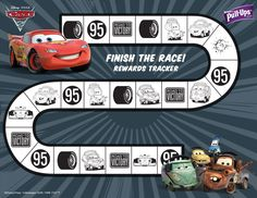 New Disney Cars potty training chart from pull-ups | Potty Training Online