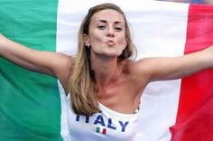 Italian fan blowing kiss to Mario Balotelli after he scored in opening Group D match versus England