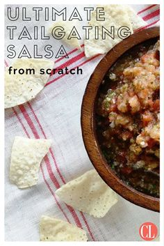 Football season means one thing and one thing only-- tailgating. And a tailgate isn't complete without a big bowl of salsa and tortilla chips. Skip the jarred salsas from the store this season and make this easy recipe instead that comes together in 10 minutes. Just because we're out of tomato season, doesn't mean you can't use canned tomatoes to make a stellar homemade salsa from scratch. | Cooking Light