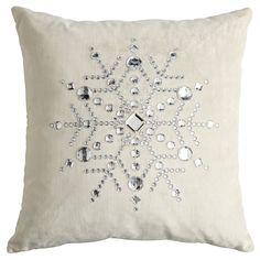 Enjoy a comfy Pier 1 Velvet Snowflake Pillow