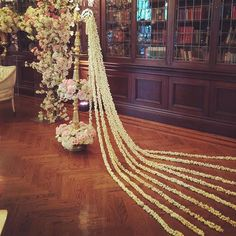 #Wedding_ceremony Beautiful Sri Lankan oil lamp we prettied up at #casalomatoronto with very fragrant Jasmine strands. #rachelaclingen