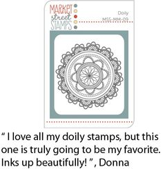 Market Street Stamps - Doily, MSS-MM-09
