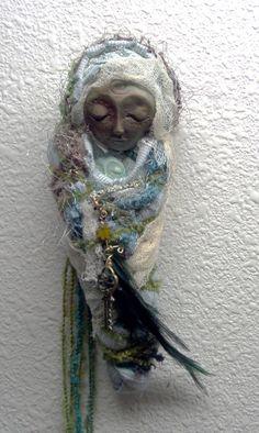Healer Moon Bohemian Art Doll Folk art by awesomeart on Etsy, $75.00