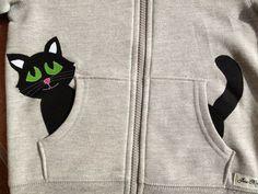 Kitty Cat in my Pocket Zip Up Hoodie/ Jacket/ Coat by oohlalajanie, $25.00