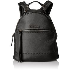 Tommy Hilfiger Naomi Backpack (€51) ❤ liked on Polyvore featuring bags, backpacks, leather rucksack, knapsack bag, leather backpack, real leather bags and leather bags