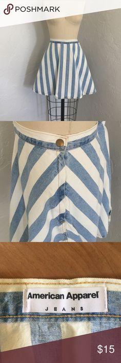 American Apparel skirt Blue & white striped denim skirt American Apparel Skirts Mini