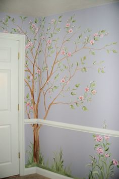 murals, MacMurray Designs MacMurray Murals Renee MacMurray Boston Mural House Portraits Hingham, MA Girls Room Murals