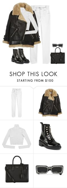 """""""Untitled #747"""" by greaat-simplicity ❤ liked on Polyvore featuring Vetements, Acne Studios, Yves Saint Laurent and Gucci"""