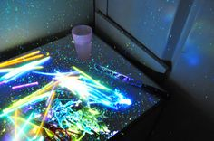 Chop open glow sticks with a kitchen knife. Nothing says whimsy like chemicals all over food prep areas.