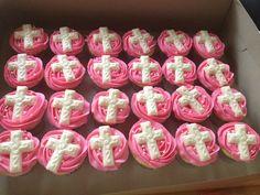 Baptism cupcakes / cross cupcakes