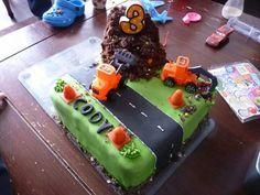 Digger cake for my birthday boy