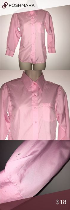 Santino Milano dress shirt 👚 Toddler girl baby pink dress shirt size 10-12 M. It's a beautiful n comfy shirt, very soft fabric w good quality made. It has some spot on the right sleeve but I think it will come out with something. Make me a offer. 👚 SANTINO MILANO Shirts & Tops Blouses