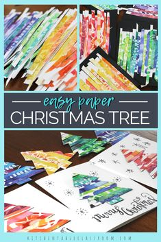 Recycled Paper Christmas Trees – BEE W. Recycled Paper Christmas Trees Recycle your kid's own artwork to make this colorful paper Christmas tree craft. Make your own personalized Christmas cards with this easy holiday craft! Christmas Art Projects, Christmas Tree Crafts, Christmas Activities, Holiday Crafts, Craft Projects, Recycled Christmas Cards, Christmas Card Ideas With Kids, Easy Christmas Cards, Christmas Paper