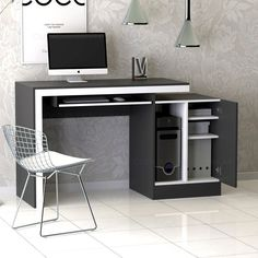Study Table Designs, Study Room Design, Home Room Design, Home Office Design, Computer Desk Design, Home Furniture, Furniture Design, Home Office Setup, Best Kitchen Designs