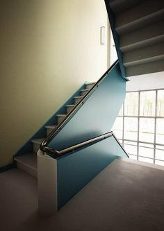 Lightfast: architectural and visualizations from Hamburg Bauhaus Meisterhäuser Source by lichtech Colour Architecture, Beautiful Architecture, Architecture Details, Bauhaus Art, Bauhaus Design, 1930s House Renovation, Contemporary Stairs, Stair Steps, Stairs