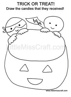 halloween candy drawings