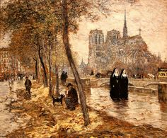 Notre-Dame de Paris by Jean François Raffaelli