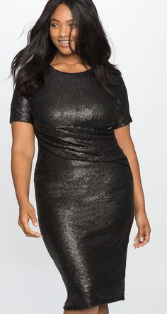 27 Plus Size Sequin Dresses  with Sleeves 241c33bc2134