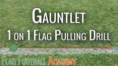 One of my favorite (and kid's favorite) drills for practicing flag pulling. Good for a little conditioning as well.