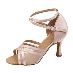 personnaliser les performances chaussures de danse en satin supérieure chaussures latines pour les femmes – EUR € 24.74