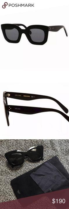 f213bfc9f CÉLINE Baby Marta Wayfarer Sunglasses Like NEW! Céline Baby Marta wayfarer  sunglasses with black frames