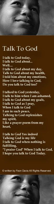 Talk To God Christian Poem bookmark Printed and by personalgifts