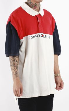 Vintage Tommy Hilfiger Spell Out T Shirt Sz XXL