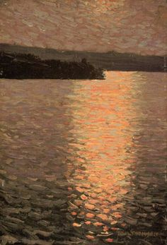 Stormy Evening - Tom Thomson , 1913  Canadian, 1877-1917  Oil on canvas board, 9 15/16 x 6 ¾ in. (25.2 x 17.2 cm).