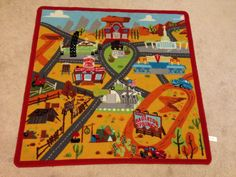 Outdoor Area Rugs Play rug for cars and town vintage play a city for hours of fun to drive