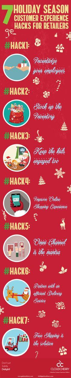 7 Holiday Season Customer Experience Hacks for Retailers [Infographic] #customerexperience #customerservice #infographic #retail #christmas