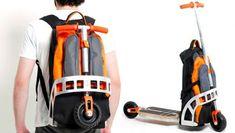 Folding Backpack Scooter / TechNews24h.com