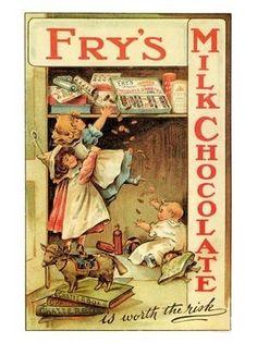 Frys Chocolate Advert,♥ 1900s http://en.wikipedia.org/wiki/J._S._Fry_%26_Sons