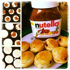 Nutella Pancake Bites, yummy breakfast !