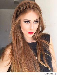 Braid and red lips - LadyStyle