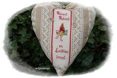 Geschenkverpackungen - Weihnachtliches Shabby Herz Gedicht Advent, Advent - ein Designerstück von antjesdesign bei DaWanda