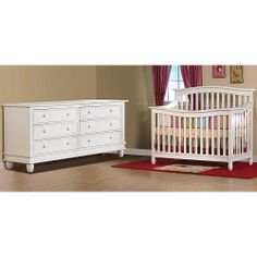 "Pali Designs Wendy Forever Crib and Double Dresser - Distressed White - Pali Designs - Toys ""R"" Us"