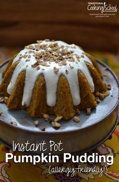 Instant Pot Pumpkin Pudding {allergy-friendly!} | Starting out our holiday morning with a creamy, sweet pumpkin treat most definitely makes me thankful and ready to celebrate! This is one of those recipes that proves special doesn't have to be difficult. Just stir, pour, cook, and chill -- that's really it! | TraditionalCookingSchool.com