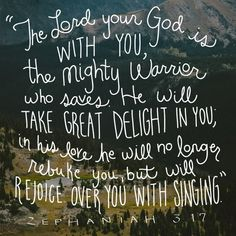Love this.  Can't wait to hear what Jesus' voice sounds like!  And he'll be rejoicing over ME?  Just wow.