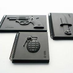 Caderno Alto Relevo, Caderno Preto, Caderno Criativo
