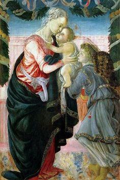 Мадонна с Младенцем и ангелом. Сандро Боттичелли