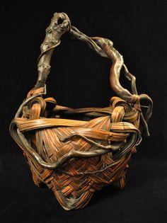 Ikebana basket  Japan  Nemagaridake bamboo, branches