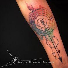 Justin Nordine - Color wheel Archery Tattoo