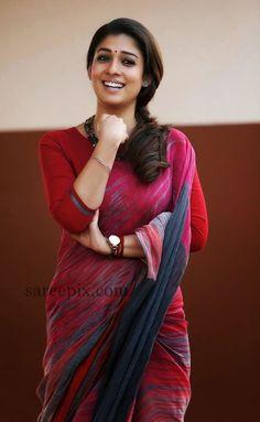 "Nayanatara saree photos in ""Bhaskar the Rascal"" tamil movie - Saree, lehenga, anarkali, maxi and salwar kameez fashion"