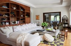 contemporary family room by Greenauer Design Group