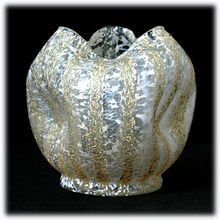 Dugan Gold Venetian Pompeian Rose Bowl Antique Art Glass 1902