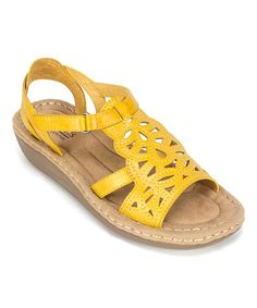 Canada Goose kids sale cheap - Charles Albert Green Perforated New Wedge Sandal | Wedge Sandals ...